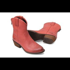 Born Wynd Red Cowboy Booties